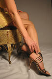 Legs and heels Royalty Free Stock Photo