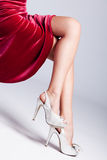 Legs in high heels Stock Images