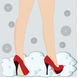 Legs in high heels Royalty Free Stock Photo
