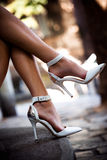 Legs in high heels Royalty Free Stock Photos