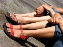 Legs In Sand Stock Photos
