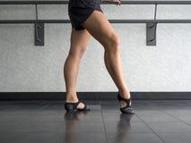 Legs of a Jazz dancer Stock Image