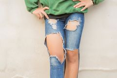 Legs and Jeans Teen stock photo