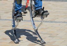 Legs for jumping stilts Stock Photography