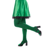 Legs from a leprechaun or witch, concept st. patrick´s day or c Royalty Free Stock Images