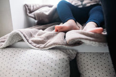 The legs of a little girl Royalty Free Stock Photo