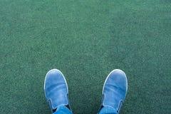 Legs of man Stock Photo