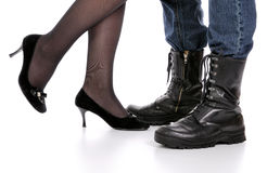 Legs of Man and Woman. Royalty Free Stock Photos