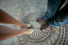 Legs man and woman Stock Photography