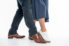 Legs of man and woman Stock Photo