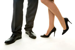 Legs of managers. Stock Photos