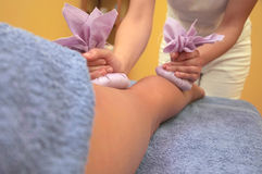 Legs massage  Stock Photos