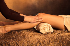 Legs massage stock image