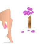 Legs massage, cdr vector royalty free stock images