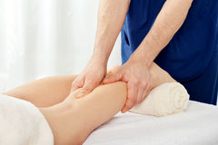 Legs massage Royalty Free Stock Images