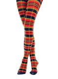 Legs in multicolored fancy tights Stock Images