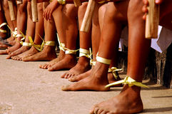 Legs of the Naga kid during the Hornbill festival Stock Photos