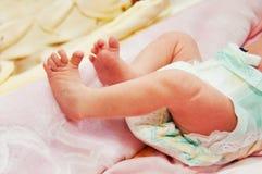 Legs newborn baby. Stock Image