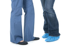 Legs of nurse and patient Royalty Free Stock Images