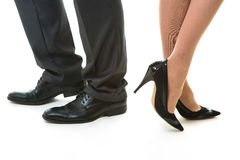 Legs of office clerks. Stock Image
