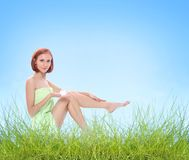 Legs outdoors Stock Photography
