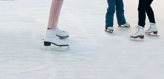 Legs of people skating Royalty Free Stock Photos
