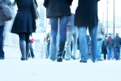 Legs of people in the street Royalty Free Stock Photo