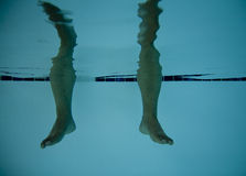 Legs in Pool 1 Royalty Free Stock Photo