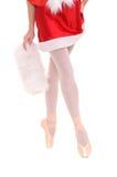 Legs of professional ballerina on tiptoe Royalty Free Stock Photos