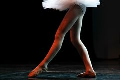 Legs of a professional classic Ballet stock image