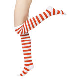 Legs in red and white socks Stock Image