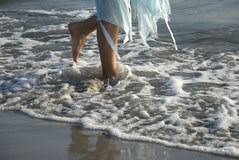 Legs relaxing in sea royalty free stock photos