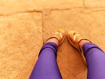 Legs. Resting legs on a tiring day Stock Image