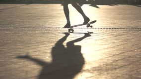 Legs riding skateboard. stock video footage
