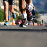 Legs of runners Royalty Free Stock Photos
