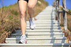 Legs running on mountain Royalty Free Stock Photos