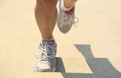 Legs running up on mountain Royalty Free Stock Image