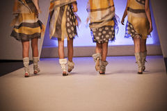 Legs on runway Royalty Free Stock Images