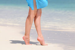 Legs by the sea Royalty Free Stock Photos
