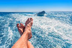 Legs and the sea Royalty Free Stock Images
