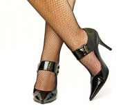 Legs in shoes Stock Image