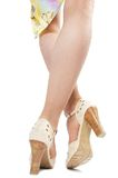 Legs in shoes Stock Images