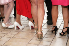Legs and shoes dancing women Royalty Free Stock Image