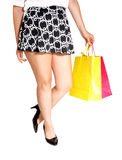 Legs with shopping bag's. Stock Photography