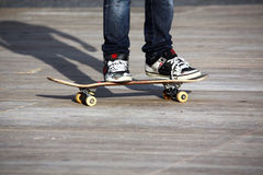 Legs and skateboard Royalty Free Stock Image