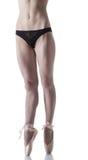Legs of skinny ballerina, isolated on white Stock Image