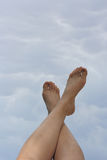 Legs and sky Royalty Free Stock Photography
