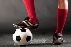 Legs of soccer player Royalty Free Stock Photos