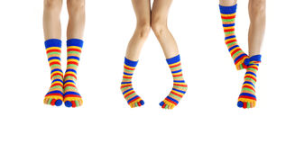 Legs in socks Stock Photography