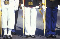 Legs of Soldiers and Sailors, Desert Storm Victory Parade, Washington, D.C. Stock Image